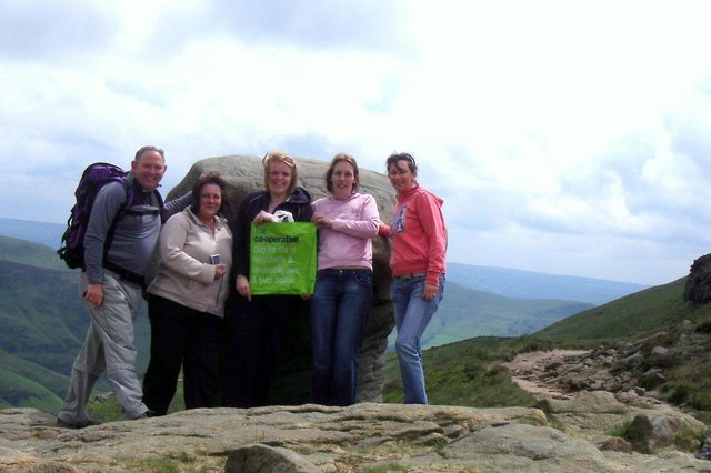 Who can you recognise in the Kinder Scout pictures?