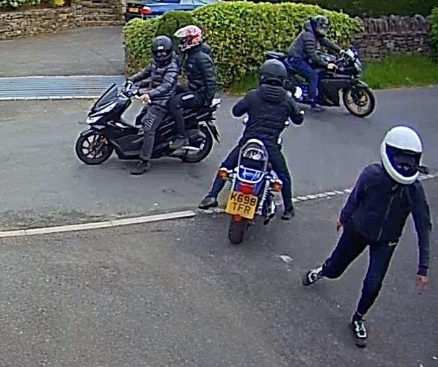 Police are appealing for help to trace the people pictured in connection with the incident.