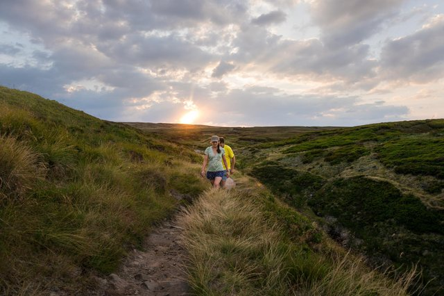 The 268-mile Pennine Way walking trail starts in Edale in the Peak District. Photo courtesy of Visit Peak District & Derbyshire.