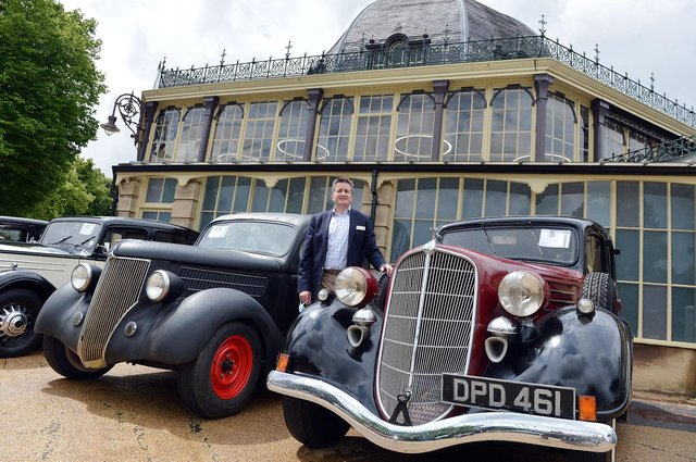 The H&H classic car auction is taking place in Buxton Pavilion gardens. Damian Jones senior sales Manager H&H classics