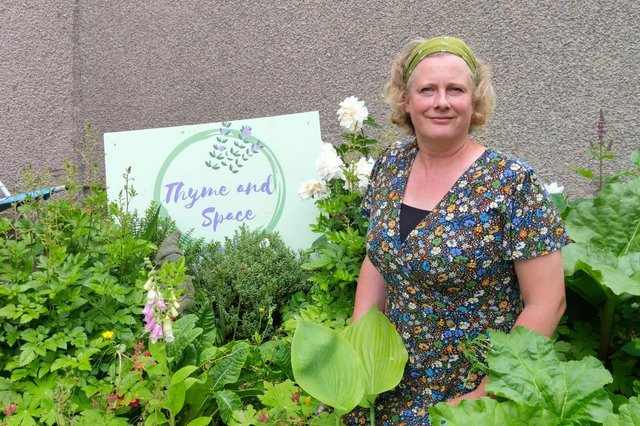 Garden designer Julia Wilson, whose horticultural services company Thyme and Space works across High Peak.