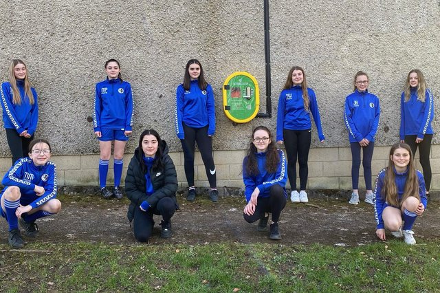 Th u13 girls team who train and play at Temple Fields