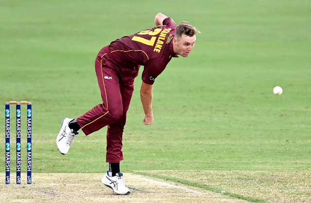 Billy Stanlake in action for Queensland.
