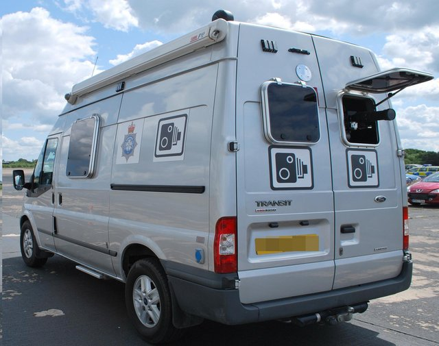 A police mobile speed camera van