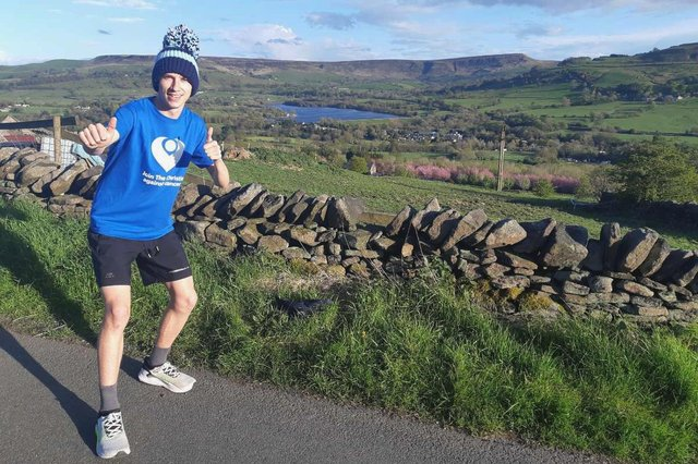 Ed Diamond, 18, is well on his way to raising £2,000 for the Christie Cancer Charity.