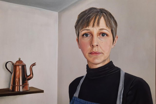 Laura Critchlow's self-portrait has earned her a place in a prestigious exhibition and the chance of a £10,000 prize.