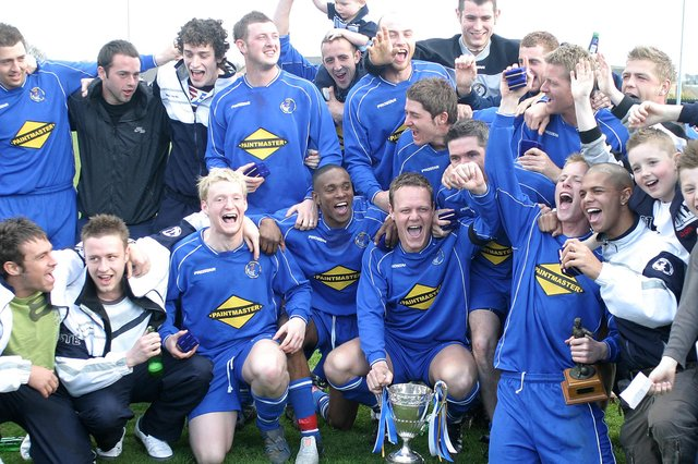 Buxton celebrate their title success in 2006.