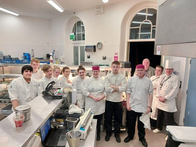 Expert tuition is on hand - long serving tutor Mark Hudd's experience includes cooking for the Royal Family