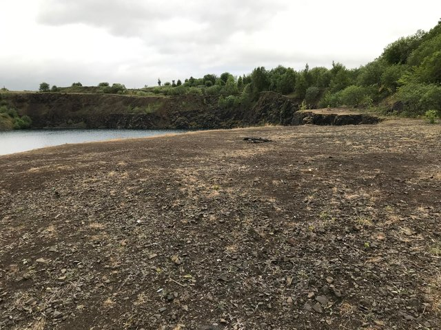 Waterswallows Quarry after Tom Martin's clean-up job
