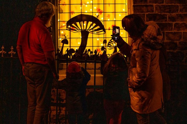 The Light Up New Mills community project was a bright spot for many amid the gloom of 2020.
