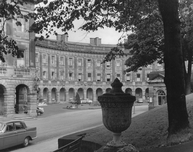 Images of the past at Buxton's Crescent