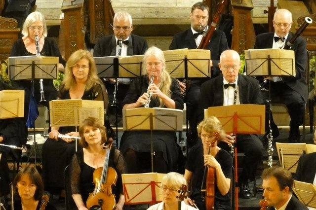 Members of the High Peak Orchestra in concert at St John's Church, Buxton.