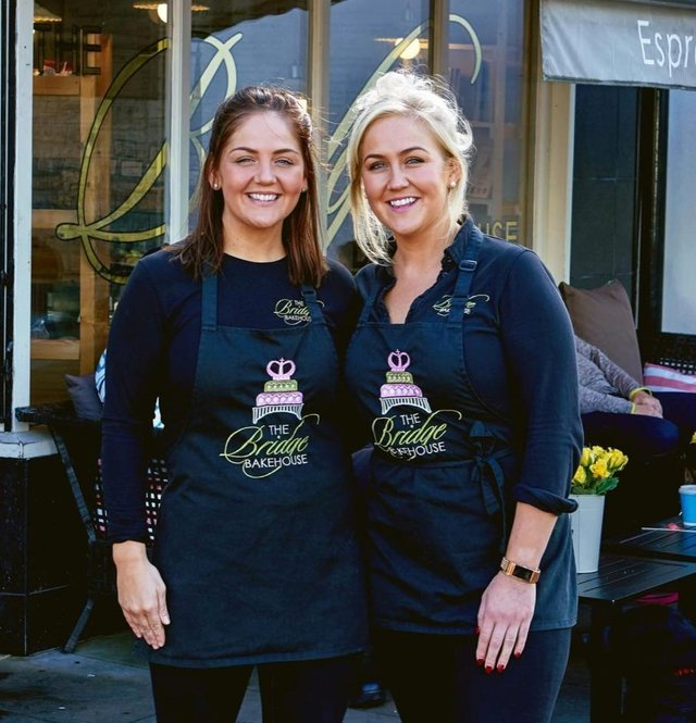 Camilla and Courtney Dignan from the Bridge Bakehouse in Whaley Bridge.