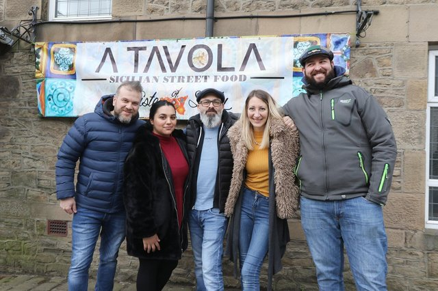 Partners Nicola Owen and Alessio Muccio are opening an Italian restaurant in the former Beehive, New Mills, with colleagues Roza Rumenova, Salvo Coluccio and Francesco Rizzo