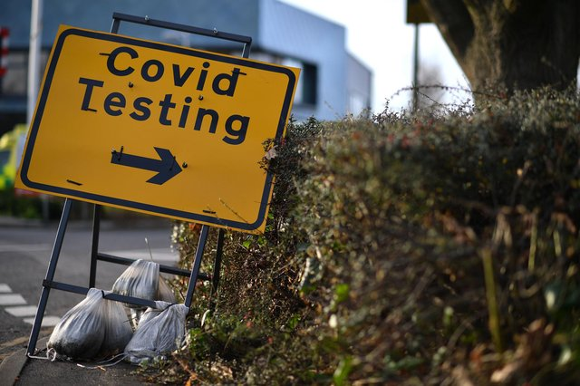 A Covid-19 testing centre for people without symptoms is opening in New Mills on March 10. Stock Photo by BEN STANSALL/AFP via Getty Images.