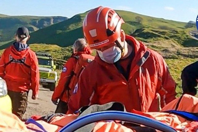 Both Buxton Mountain Rescue Team and Edale Mountain Rescue Team attended the incident