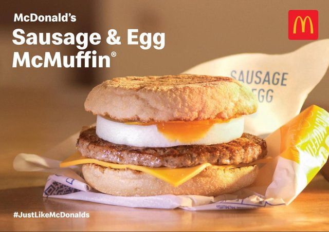 How to make a McDonald's sausage and egg McMuffin at home.