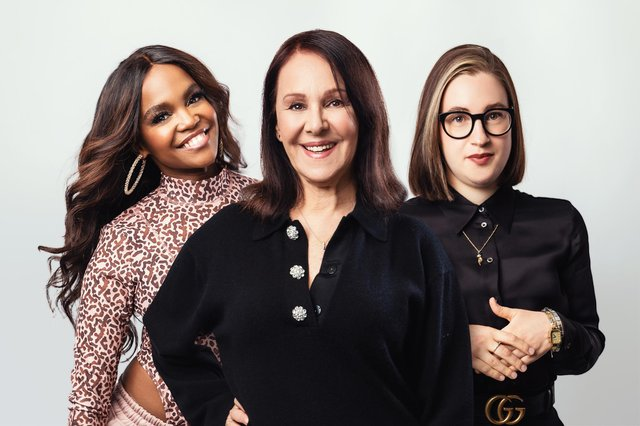 The Cher Show's choreographer Oti Mabuse, director Arlene Phillips and costume designer Gabriella Slade, pictured left to right. Photo by Oliver Rosser