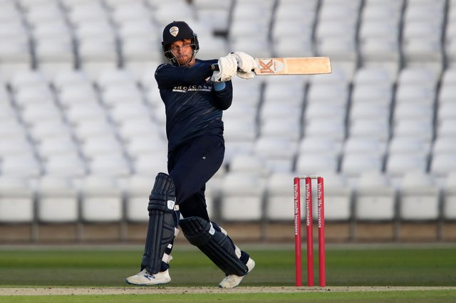 Matt Critchley hit a career best to help Derbyshire Falcons to victory. (Photo by Alex Pantling/Getty Images)