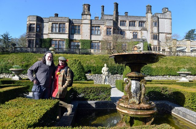 Thornbridge Hall owners Jim and Emma Harrison look forward to welcoming the public to their gardens for the first time in two years. Photos by Brian Eyre.