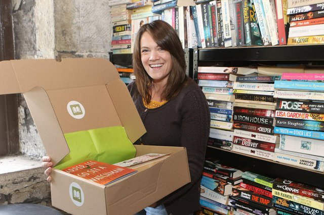 Gemma Roe of Book Box the new monthly service sending out used books and raising money for good causes