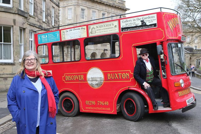 Netta and Nick Christie with the Buxton Tram