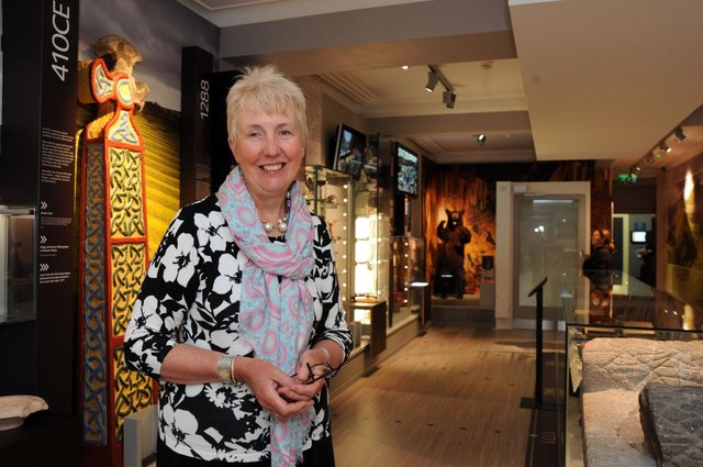 Curator Ros Westwood in the Buxton Museum and Art Gallery.