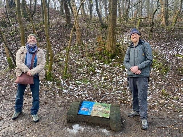 Frag Last, (left) and Will Ward (right), from the Stronger Roots project being organised by Buxton Civic Association
