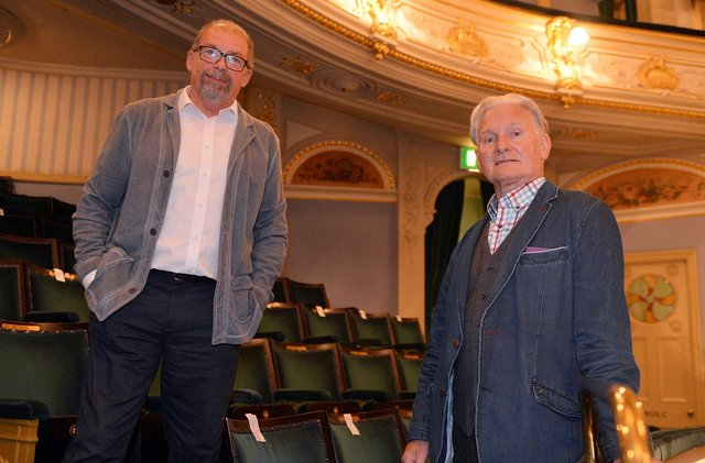 Charles Cusick Smith and Phil R Daniels who run Upstage Design who are doing the sets and costumes for A Little Night Music for the Buxton International Festival.