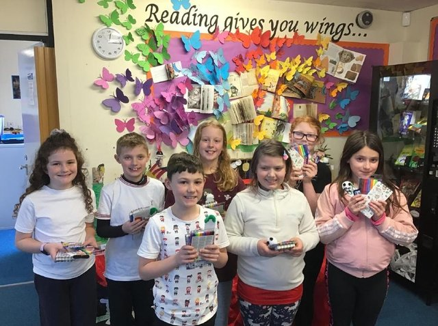 Pupils at Fairfield Endowed Junior School took part in a Book in a Box competition