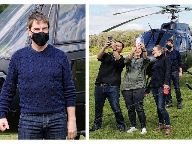 Tom Cruise in Leighton Buzzard. Picture by Dave Burton.