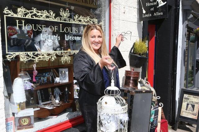 Harry Potter themed shop, owner Emma Beadham