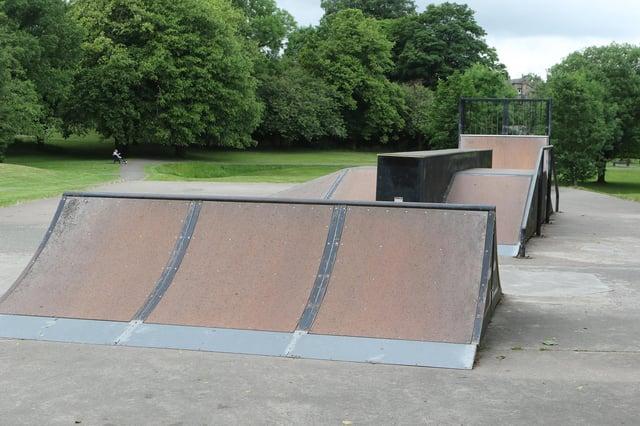 The skate park at Chapel's Memorial Park