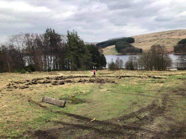 The damage caused by vandals in the Goyt Valley
