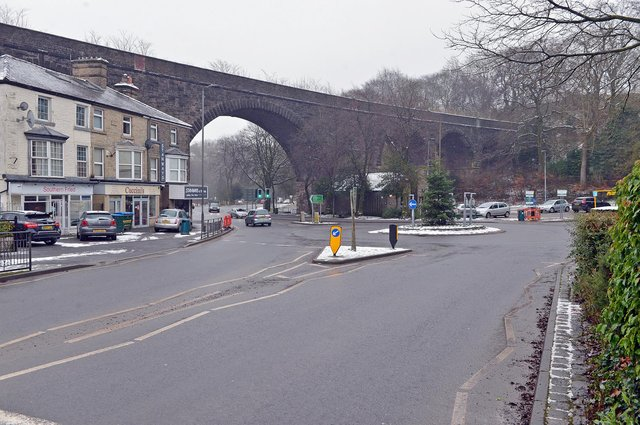 Empty roads in Buxton during third lockdown