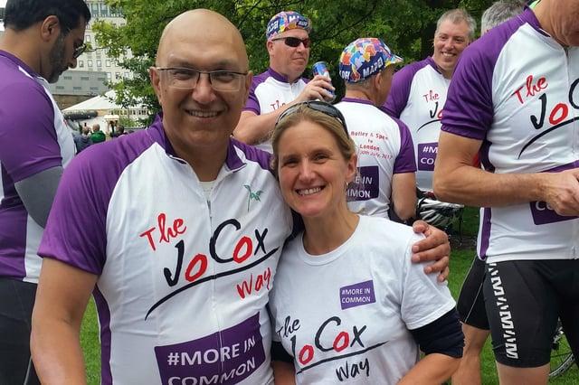 Jo Cox Way founder Sarfraz Mian and Kim Leadbeater