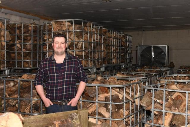 Peak Logs owner Luke Johnson.