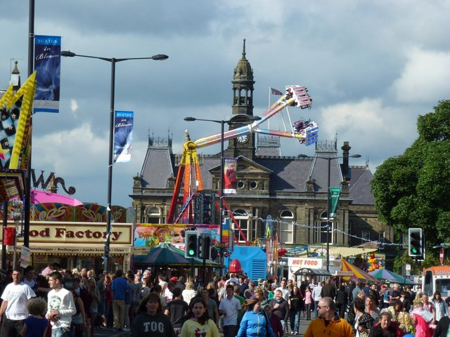 A packed Market Place in 2012