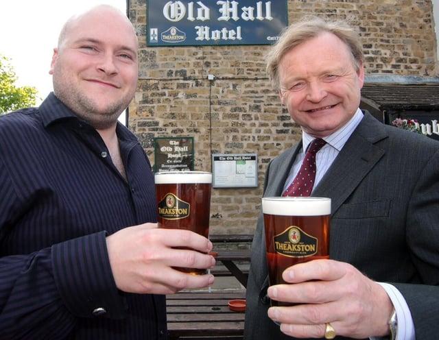 Rick Ellison (left) with Simon Theakston, of Theakston brewery