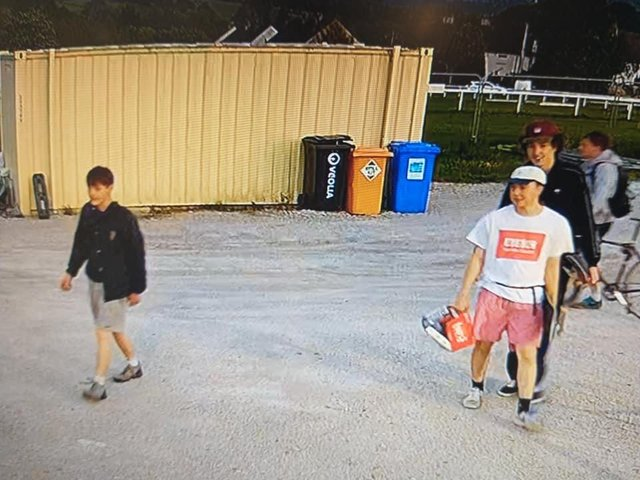 Police would like to speak to the males pictured in connection with the incident.