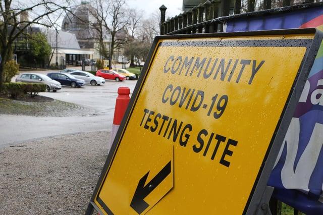 Buxton Covid Test centre at the Pavilion Gardens