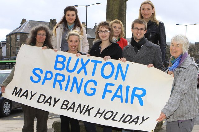 Buxton Spring Fair has been cancelled by of of lockdown restrictions - some of the organisers pictured in 2013