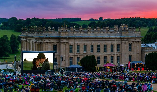 Pride and Prejudice will be shown in the grounds of Chatsworth House on August 19.2021. Photo courtesy of Luna Cinema.