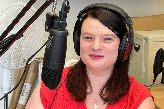 Helen Naylor, presenter of the Cast from Buxton Opera House.