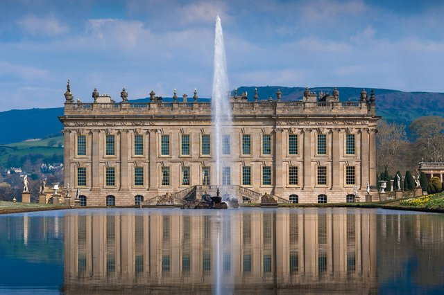 Chatsworth House has been named among the most Instagrammed stately homes in the UK.