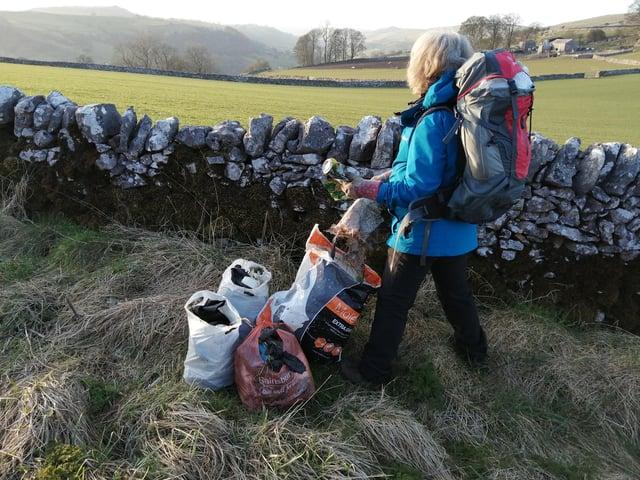 Hartington Community Group secretary Liz Hitch on the recent litter pick.