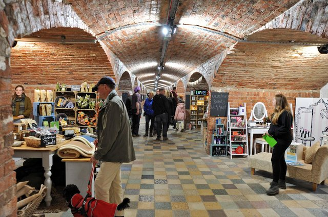 The Arches was built as a corn store in the 19th century. Picture taken before coronavirus