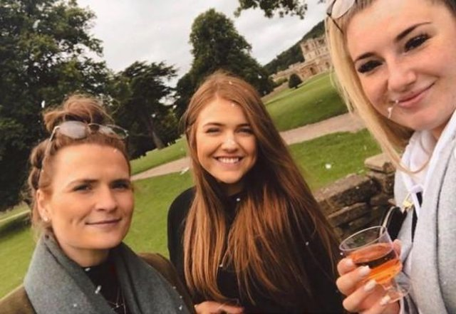 libby_alice, pictured with her friends Jade and Jemma. posted this picture of their afternoon at Chatsworth.