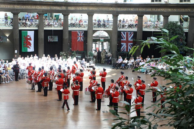 Buxton Military Tattoo has been cancelled for the second year running because of the pandemic, pictured are  the Yorkshire Volunteers Band