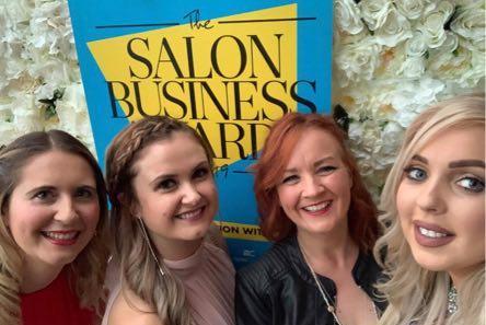The salon girls of Blake's in New Mills